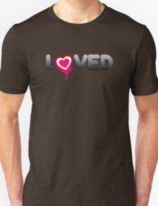 Loved Valentines Heart Graffiti T-Shirt