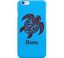Red Hawaiian Sea Turtle on Ocean Blue iPhone Case/Skin