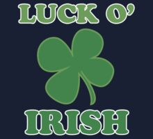 Luck O' Irish Lucky Clover St Patricks Day Baby Tee