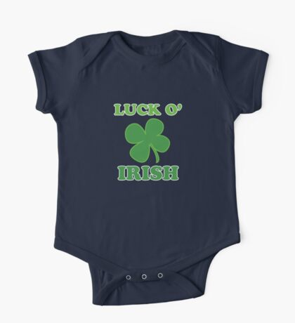 Luck O' Irish Lucky Clover St Patricks Day One Piece - Short Sleeve