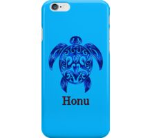 Sparkling Blue Hawaiian Sea Turtle on Ocean Blue iPhone Case/Skin
