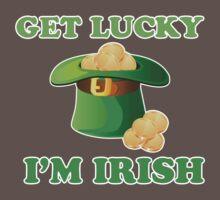 Get Lucky Im Irish St Patricks Day Baby Tee