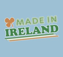 Made In Ireland St Patricks Day One Piece - Short Sleeve