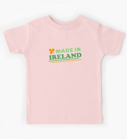 Made In Ireland St Patricks Day Kids Tee