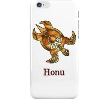 Tribal Hawaiian Golden Sea Turtle on White iPhone Case/Skin