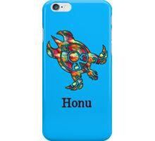 Tribal Rainbow Hawaiian Sea Turtle on Ocean Blue iPhone Case/Skin