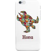 Tribal Rainbow Hawaiian Sea Turtle on White iPhone Case/Skin