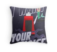 I want your voice Throw Pillow