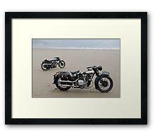 Brough Superior at Pendine Sands Framed Print