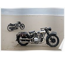 Brough Superior at Pendine Sands Poster