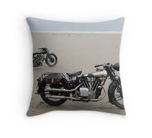 Brough Superior at Pendine Sands Throw Pillow