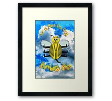 Zip a Bee Doo Dah - Happy Birthday Boy Framed Print