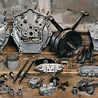 "Brough Superior ""Two of everything"" Engine by Frank Kletschkus"