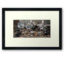 """Brough Superior """"Two of everything"""" Engine Framed Print"""