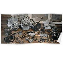 "Brough Superior ""Two of everything"" Engine Poster"