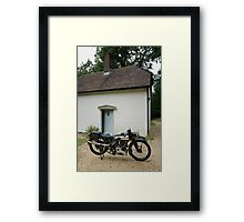 Brough Superior SS 100 at Clouds Hill Framed Print