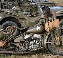 Harley-Davidson WLA Army Motorcycle by Frank Kletschkus