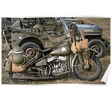 Harley-Davidson WLA Army Motorcycle Poster