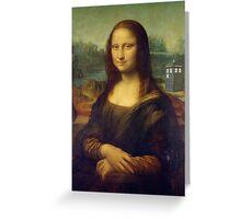DaVinci's Mona Lisa Meets Doctor Who - TARDIS - Time Traveler - Mona Lisa and The Doctor Greeting Card