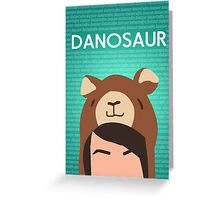 Danosaur Poster Greeting Card