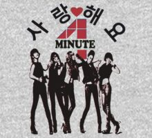 ㋡♥♫SaRangHaeYo(Love) Hot Fabulous K-Pop Girl Group-4Minute Clothing & Stickers♪♥㋡ One Piece - Long Sleeve