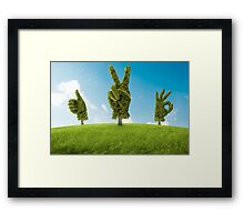 Positive tree Framed Print