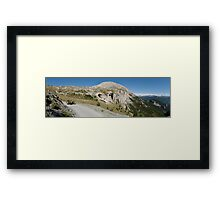 BMW R75 on the road to the top of Monte Jafferau Framed Print