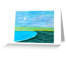Moon over the Pacific Greeting Card
