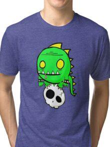 Dino Skull Tri-blend T-Shirt