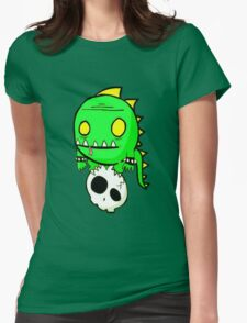 Dino Skull Womens Fitted T-Shirt
