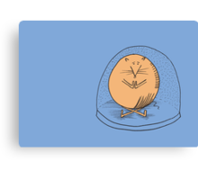 Fat mouse in a snow globe Canvas Print