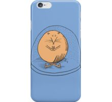 Fat mouse in a snow globe iPhone Case/Skin