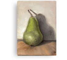 Pear in Oils Canvas Print