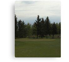 Golfing in Alberta Canvas Print
