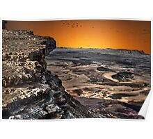 Ramon Crater, peak of Mount Negev in Israel Poster
