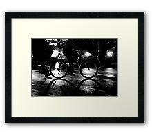 night cross Framed Print