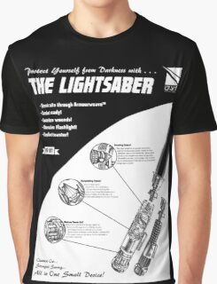 Star Wars Lightsaber Retro Ad Graphic T-Shirt