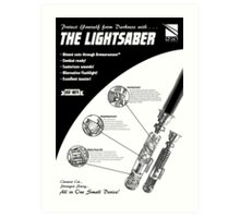 Star Wars Lightsaber Retro Ad Art Print