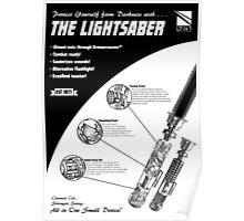 Star Wars Lightsaber Retro Ad Poster