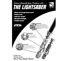 Star Wars Lightsaber Retro Ad Photographic Print