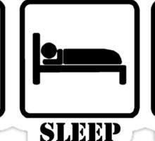EAT SLEEP AND SWING Sticker