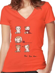 Soft Kitty Women's Fitted V-Neck T-Shirt