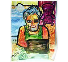 SOLITUDE - acrylic, tempera, paper 18 x 24'' Poster