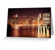 New York City - Night Greeting Card