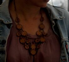 Leather Necklace on a Vintage Gypsy by Carla Wick/Jandelle Petters