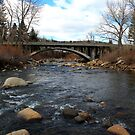 Bridge over the Truckee River,Verdi Nevada USA by Anthony & Nancy  Leake
