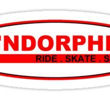 Ride Skate Surf oval Sticker