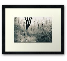 The Hesitating Moment - An Abstract Expressionistic Photograph Framed Print