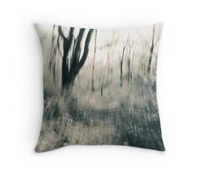 The Hesitating Moment - An Abstract Expressionistic Photograph Throw Pillow