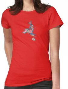 Map Art Womens Fitted T-Shirt